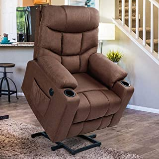 Esright Power Lift Chair Electric Recliner for Elderly Heated Vibration Massage Fabric..