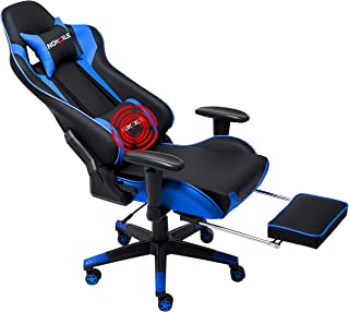 Nokaxus Gaming Chair Large Size High-Back Ergonomic Racing Seat with Massager Lumbar..