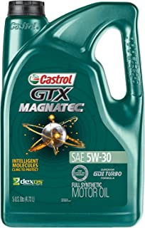 Castrol 03057 GTX MAGNATEC 5W-30 Full Synthetic Motor Oil, Green, 5 Quart