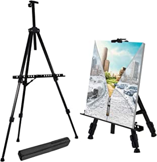 "T-Sign 66"" Reinforced Artist Easel Stand, Extra Thick Aluminum Metal Tripod Display.."