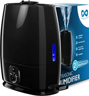 Everlasting Comfort Humidifiers for Bedroom (6L) – Humidifier with Essential Oil Tray (Black)