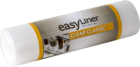 Duck Brand Clear Classic Easy 286230 Non-Adhesive Shelf Liner, 12 in x 20 ft Roll