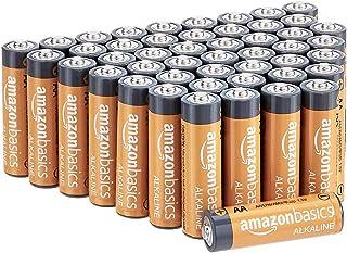 AmazonBasics 48-Count AA High-Performance Alkaline Batteries, 10-Year Shelf Life, Easy to..