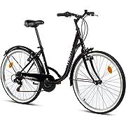 "Moma Bikes Town, Bicicletta di Città 26"", Shimano 6v, Freni V-Brake Alluminio. Unisex – Adulto, Nero, Unic Size"