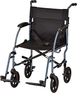NOVA Medical Products Ultra Lightweight Transport Chair, Weighs Only 18.75 lb, Compact..