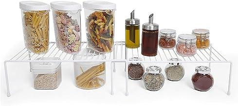 Smart Design Kitchen Storage Expandable Shelf Rack w/ Scratch Resistant Feet –..