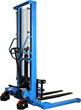 DAZONE Manual Forklifts & Pallet Stackers, Hand Pump Operated Lift Trucks Easy Lifting of Lighter Loads 2200LBs in Small W...