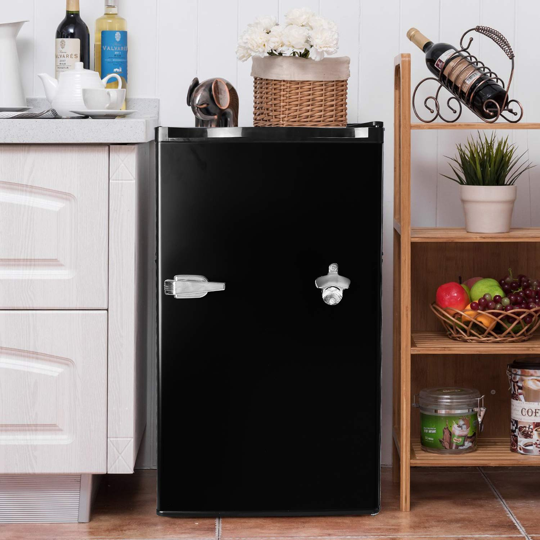 COSTWAY Compact Refrigerator, 3 2 cu  ft  Single Door, Small