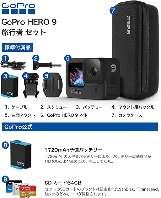 GoPro HERO9 Black 付属品
