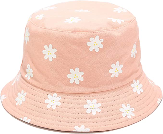 bucket hat with flowers