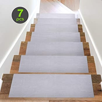 Amazon Com Acrabros Carpet Stair Treads Non Slip 8 7 Inch X 26 | No Carpet On Stairs | Stair Case | Wood | Non Slip | Prefinished Stair | Hardwood