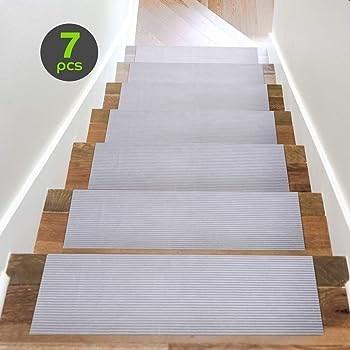Explore Carpet Protectors For Stairs Amazon Com   Stair Treads For Carpeted Steps   Carpet Protectors   Skid Resistant   Bullnose Carpet   Anti Slip Stair   Wood