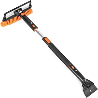 "Snow MOOver 39"" Extendable Snow Brush with Squeegee and Ice Scraper – Foam.."
