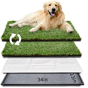 Fake grass to put on your balcony for you dog in apartment living.