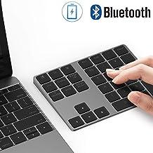 Bluetooth Number Pad, Lekvey Aluminum Rechargeable Wireless Numeric Keypad Slim 34-Keys..