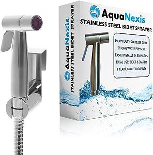 Aqua Nexis Premium Bidet Sprayer for Toilet, Stainless Steel Bathroom Handheld Spray,..
