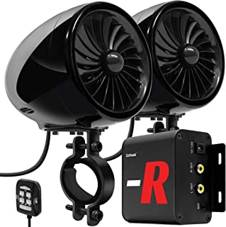 "GoHawk TJ4-R Amplifier 4"" Full Range Waterproof Bluetooth Motorcycle Stereo Speakers.."