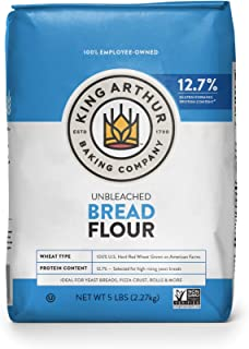 King Arthur, Unbleached Bread Flour, Non-GMO Project Verified, Certified Kosher, No Preservatives, 5 Pounds (Packaging May...