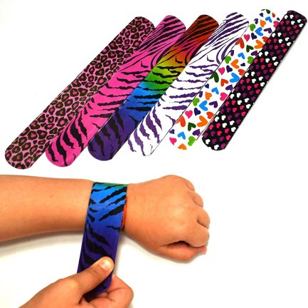 Amazon.com: Mega Pack Slap Bracelets Colorful Slap Wrist Bands Birthday  Valentine's Day Holiday Party Favors Supplies with Hearts & Animal Print  One Size Fits All For Kids and Adults … (100): Clothing