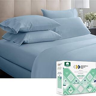 California Design Den King Cotton Sheets – 600 Thread Count – Sateen Bed..