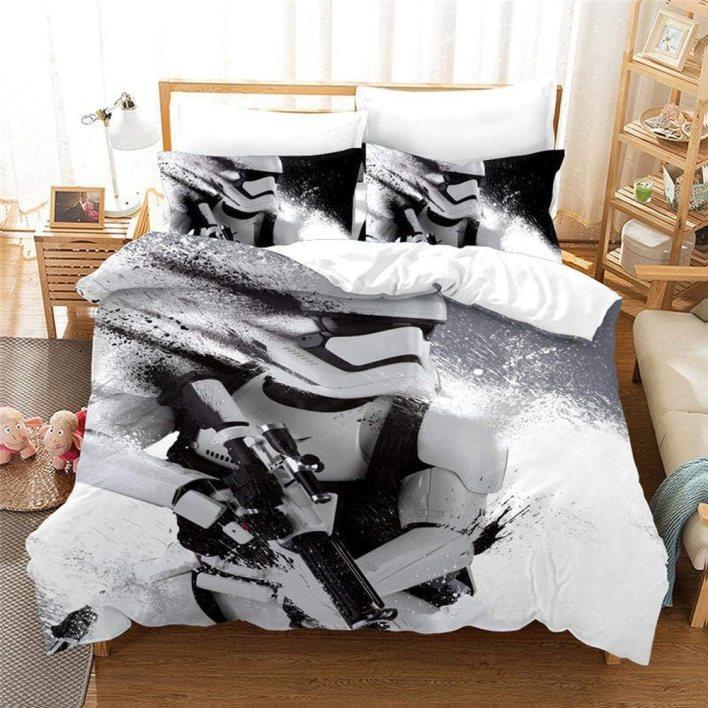 YYANG Juegos de Fundas Star Wars 3D Impresión Cómoda Ropa De Cama De Dormitorio De Acolchar 100% De Microfibra (1 Funda Nórdica + 2 Fundas De Almohada) I-Full(200x229cm)