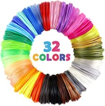 32 Colors 3D Pen PLA Filament Refills, Each Color 10 Feet, Total 320 feet, Pack with 4..