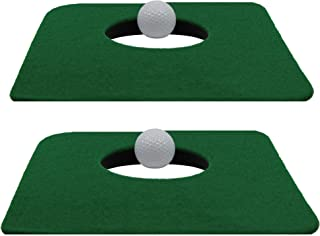 Upstreet Putting Mat for Indoor Golf Cup – Includes Two Indoor Putt Mats and Two..