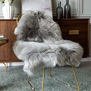 Carvapet Luxury Soft Faux Sheepskin Chair Cover Seat Pad Plush Fur Area Rugs for Bedroom,..