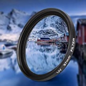 Velaurs UV Lens Filter, Dustproof 37mm Camera Lens Accessories, 1.5 x 0.7in Improve The Clarity for 37mm Camera