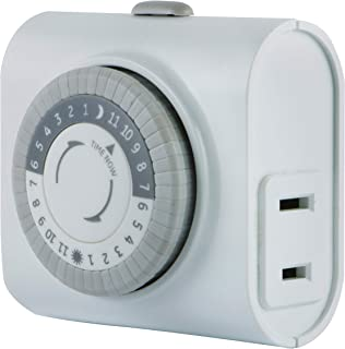 GE 24-Hour Indoor Basic Timer, Plug-in, Daily On/Off Cycle, 30 Minute Interval, for..