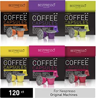 Bestpresso Coffee for Nespresso Original Machine 120 pods Certified Genuine Espresso..