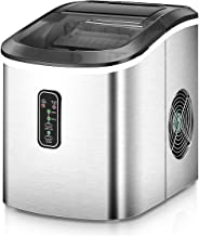 Euhomy Ice Maker Machine Countertop, Makes 26 lbs Ice in 24 hrs-Ice Cubes Ready in 8..