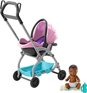 Barbie Skipper Babysitters Inc. Pink Stroller Playset