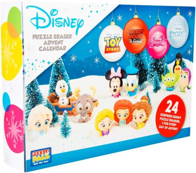 Sambro DIS-27 Adventskalender Puzzle Palz Radiergummi Spielfiguren,  Disney Frozen, Princess, Toy Story und viele mehr, für Kinder ab 27 Jahre,  bunt