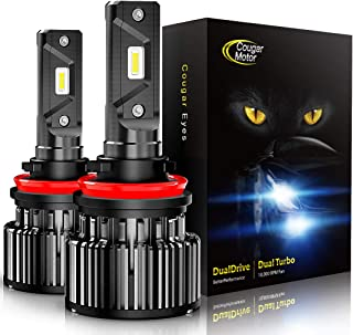 Cougar Motor LED Bulbs All-in-One Conversion Kit – H11 (H8, H9) -10000Lm 6000K Cool..