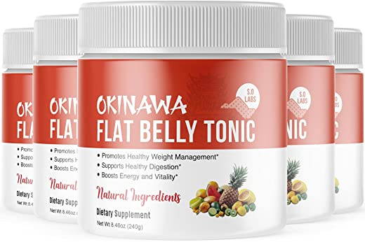 Okinawa Flat Belly Tonic Powder Drink Japan Supplement Reviews (5 Pack)