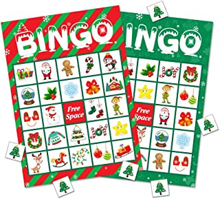 Christmas Bingo Game Party Supplies - Xmas Gifts for Kids 32 Players