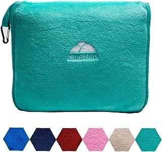 BlueHills Premium Soft Travel Blanket Pillow Airplane Blanket Packed in Soft Bag..