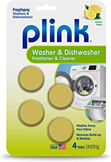Plink Washer and Dishwasher Freshener and Cleaner, Phosphate and Bleach Free, Deodorizer..
