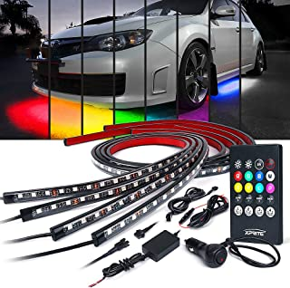 Xprite Car Underglow Neon Accent Strip Lights Kit 8 Color Sound Active Function and..