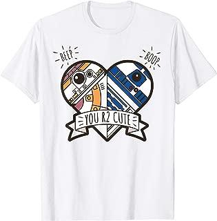 Star Wars R2-D2 BB-8 Droid Heart Valentine's Day T-Shirt