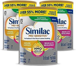 Similac Pro-Sensitive Non-GMO Infant Formula with Iron, with 2'-FL HMO, for Immune..
