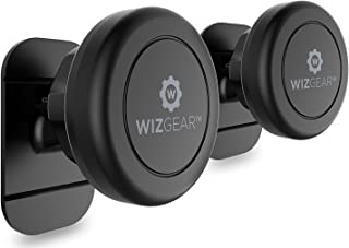 WizGear Magnetic Phone Mount, Universal Stick On (2 Pack) Dashboard Magnetic Car Mount..