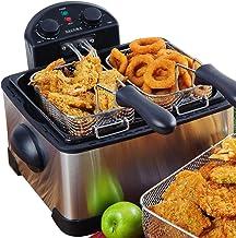 Secura 1700-Watt Stainless-Steel Triple Basket Electric Deep Fryer with Timer Free Extra..