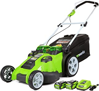 Greenworks 40V 20-Inch Cordless Twin Force Lawn Mower, 4Ah & 2Ah Batteries with Charger Included
