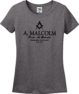 Utopia Sport A. Malcolm Printer and Bookseller Edinburgh Scotland Ladies T-Shirt (S-3X)