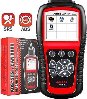 Autel Autolink AL619 OBD2 Scanner ABS SRS Airbag Warning Light Scan Tool, Turn Off Check..