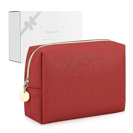 red pretty make-up bag