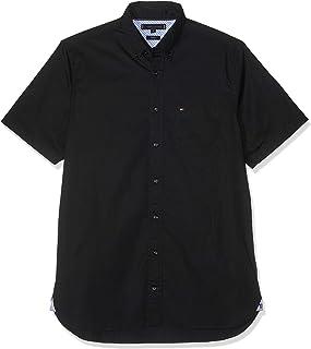 Tommy Hilfiger Stretch Poplin Shirt S/S, Camisa para Hombre