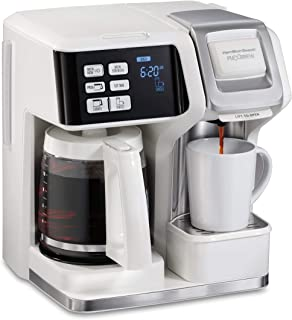 Hamilton Beach FlexBrew Coffee Maker, Single Serve & Full Pot, Compatible with K-Cup..